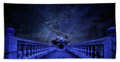 Night Sky Over The Temple Hand Towel
