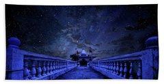 Night Sky Over The Temple Bath Towel