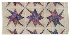 Nine Stars Dipping Their Toes In The Sea Sending Ripples To The Shore Hand Towel