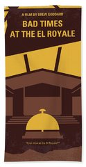 No1044 My Bad Times At The El Royale Minimal Movie Poster Hand Towel