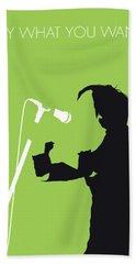 No216 My Texas Minimal Music Poster Hand Towel