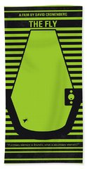 No991 My The Fly Minimal Movie Poster Bath Towel