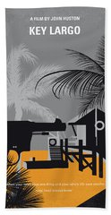 No998 My Key Largo Minimal Movie Poster Bath Towel