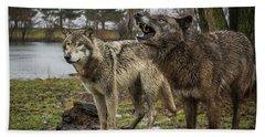 Noisy Wolf Hand Towel