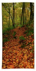 Bath Towel featuring the photograph North Side Of Mount Greylock's At by Raymond Salani III