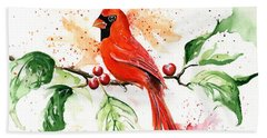 Northern Cardinal Bath Towel