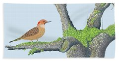 Northern Flicker Bath Towel