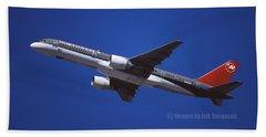 Northwest Airlines Boeing 757-251 Bath Towel