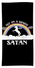 Not On A Sunday Satan Bath Towel