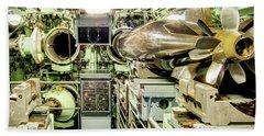 Nuclear Submarine Torpedo Room Bath Towel