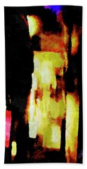 Bath Towel featuring the painting Ny Verve 2 by Joan Reese