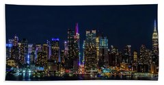 Nyc At Night Bath Towel
