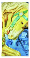 Nyc Golden Steed  Hand Towel
