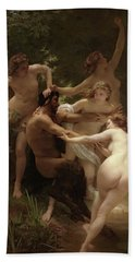Nymphs And Satyr, 1873 Hand Towel