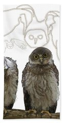 O Is For Owl Hand Towel