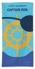 No1031 My Captain Ron Minimal Movie Poster Bath Towel