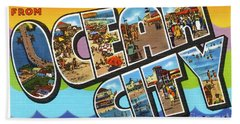 Ocean City Greetings Bath Towel