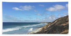 Ocean Surf In Carlsbad, California Bath Towel
