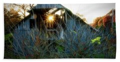 Old Barn At Sunset Hand Towel