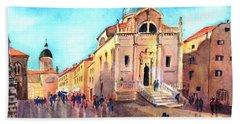 Old City Of Dubrovnik Bath Towel