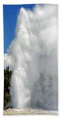 Old Faithful With Steam And Vapor Hand Towel