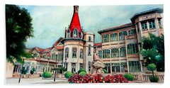 Old Thailand Palace, Architecture Hand Towel