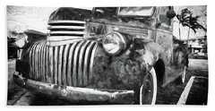 Old Truck  - Painterly Hand Towel