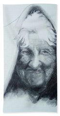 Old Woman Hand Towel