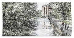 On The Banks Of The River Promenade  Hand Towel