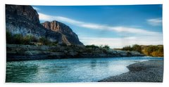On The Rio Grande River Hand Towel