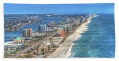 Orange Beach East Bath Towel