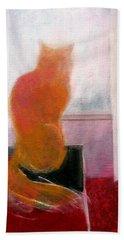 Orange Cat Hand Towel