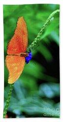 Orange Julia Butterfly Hand Towel