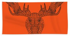 Orange Moose Bath Towel