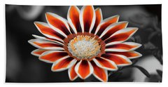 Bath Towel featuring the photograph Orange Only Gazania by Patti Whitten
