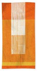 Orange Paper II Hand Towel