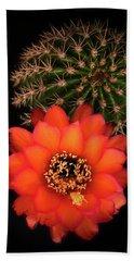 Orange Torch Cactus  Bath Towel