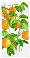 Oranges On A Branch Bath Towel