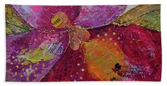 Bath Towel featuring the painting Orchid Passion I by Shadia Derbyshire