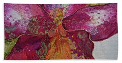 Bath Towel featuring the painting Orchid Passion II by Shadia Derbyshire