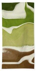 Organic Wave 1- Art By Linda Woods Bath Towel