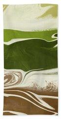 Organic Wave 2- Art By Linda Woods Bath Towel