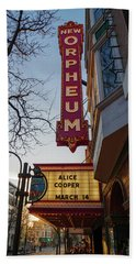 Orpheum Theater Madison, Alice Cooper Headlining Bath Towel