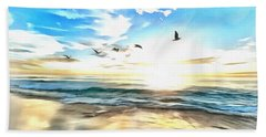 Bath Towel featuring the painting Outer Banks by Harry Warrick