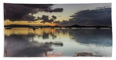 Overcast Waterscape With Hints Of Colour Hand Towel