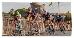Ovo Energy Cycle Race In Aberystwyth Hand Towel