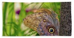 Owl Butterfly Hand Towel