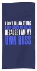 My Own Boss Hand Towel