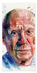Pablo Picasso Portrait Hand Towel