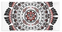 Pacific Northwest Native American Art Mandala Bath Towel